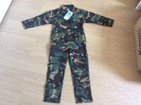 "camouflage outfit. 28"" in length new with label attached"