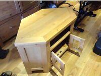 Solid wood TV corner unit for sale
