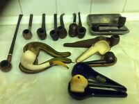 Collection of various and unusual pipes(some used).