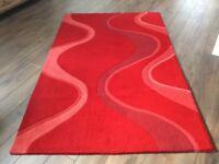 Red Acrylic rug 8' x 5' (240cm x 150cm)