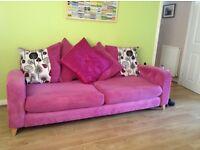 3 seater sofa and cuddle sofa £300