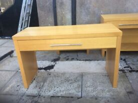 SOLID BEECH TABLE WITH DRAWER