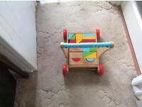 Mothercare baby walker wooden