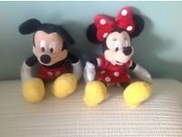 Micky and Minnie Mouse plush toys