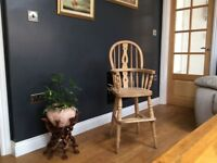 Solid wood repro farmhouse style high chair,