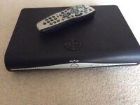 Sky TV Sky+HD satellite TV box with remote control