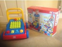 Baby 3in1 mega blocks build and go walker. Like new. Still boxed.