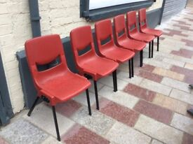 Six stacking chairs / Free Glasgow delivery