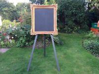 Chalk board Vintage Gold Frame plus easel
