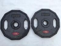 10 x 15kg Jordan Dual-Grip Olympic Rubber Weights