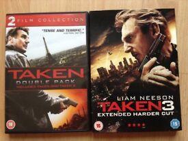 TAKEN TRILOGY: 3 DVD Films.
