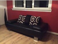 Stunning contemporary leather sofa only £100 (cost £680) collect Edinburgh