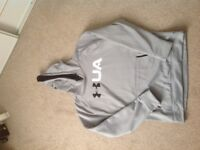 Under armour grey hooded top