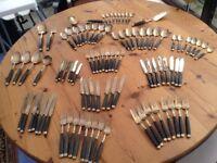 90 piece Bronze Cutley set from 1970's