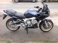 2005 Yamaha FZ6-s Fazer 600, just 8280 miles, 11 months MOT