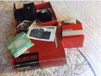 pentax auto 110 50mm lens etc