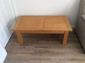 light solid Oak Coffee Table