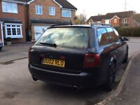 V6 2.7T twin turbo manual Avant excellent runner and very reliable MOT until Feb 2018