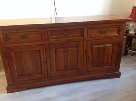 Solid wood acacia sideboard