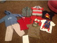Kids boys bundle ages 3 years , 2 tops 5-6, 2 tops 7-8