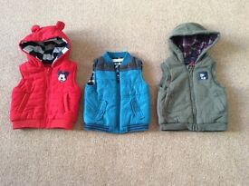 Boys Bodywarmers Various Sizes Ranging From 3 - 18 Months - £2 Each