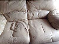 Ivory sofa 2 seater