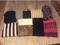 SIZE 8 CLOTHING X10. X3 WITH TAGS. X7 USED. TOPSHOP NEXT RIVER ISLAND SOUTH PRIMARK GEORGE BHS.