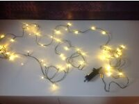 Outdoor LED Battery Fairy Lights 5m warm white