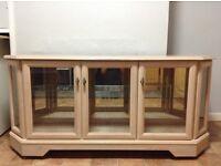 Display cabinet - Beech colour