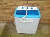 El portable twin tub washing machine