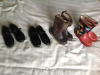 Girls Shoes and wellles. Various sizes and prices.