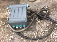 Pond pump filter and UV.