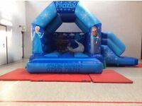 Disney frozen bouncy castle with slide