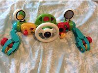Elc car steering wheel buggy toy