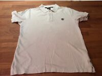Timberland polo shirt medium white