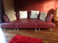 Shillig LE Tigre designer sofa including foot stool