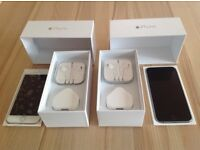 Two iPhones 6 one silver and one gold colour