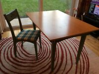 Dining table + 4 chairs, good condition L120cms W80cms H73cms