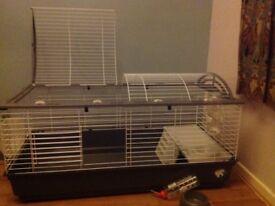 Large indoor rabbit/Guinea pig cage plus accessories