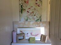 Modern floral home decorative bundle.