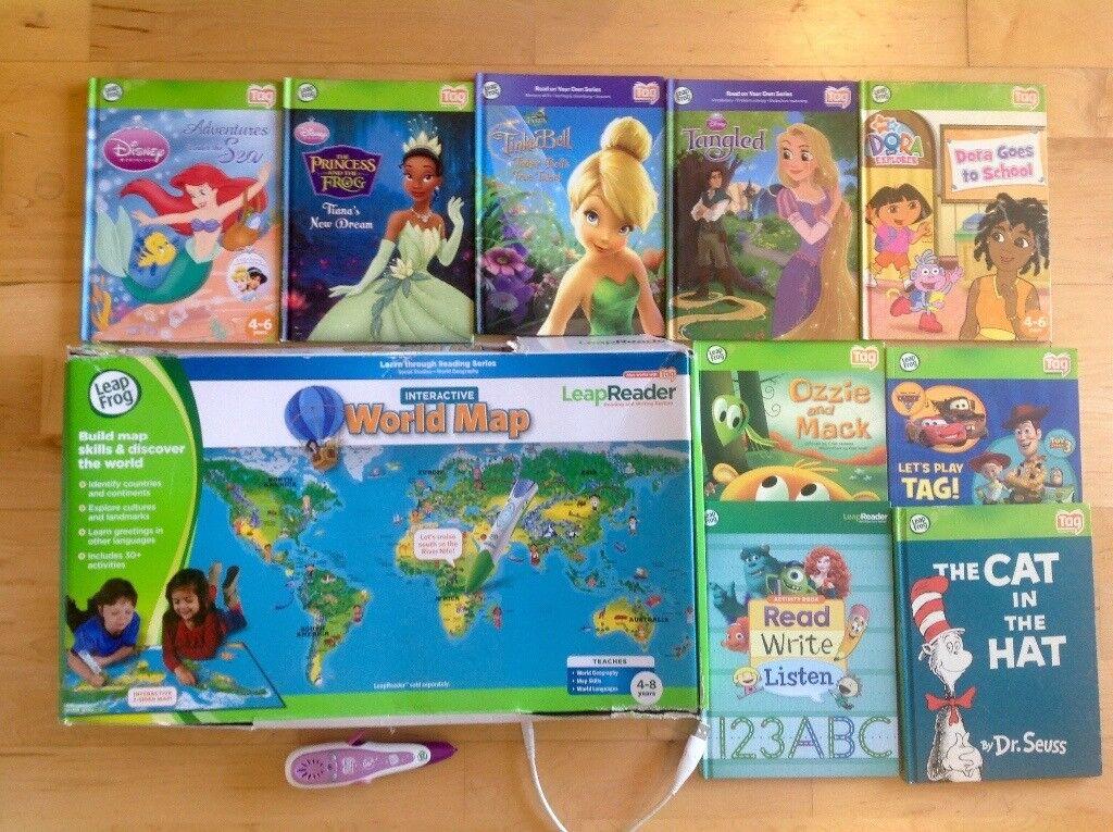 Leapfrog Leapreader Reading Pen Disney Princess Books And