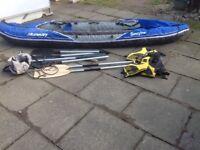 Sevylor Hudson Inflatable Kayak Paddles Life Jacket Pump