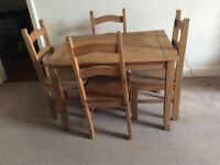 Dining Table and 4 Chairs in Good Condition