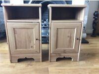 Twin bedside cabinets