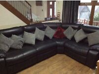 New leather look corner unit