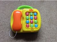 Kids toy phone and piano