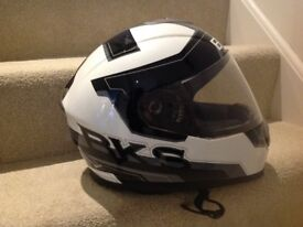 BKS PODIUM/LOGO CRASHHELMET. IMMACULATE CONDITION. COMPLETE WITH FABRIC STORAGE BAG.SMALL.