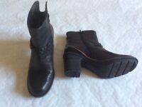 Clarks ladies black ankle boots