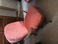 Pair of vintage Ercol chairs complete with cushions