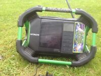 Cordless radio. Hitachi Koki UR 18DSDL